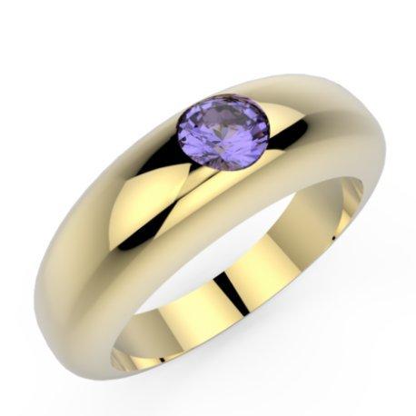 CLARISS Bagues Argent Tanzanite Bleu Violet 0,8 Rond