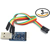 WINGONEER® 3Pcs CP2104 Serial Converter USB 2.0 To TTL UART 6PIN Module compatible with and better than CP2102