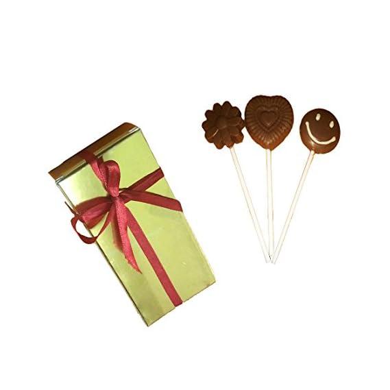 Swankit's Homemade Heart & Flower Shape Candy Lolipop Dark Chocolate 120 gm