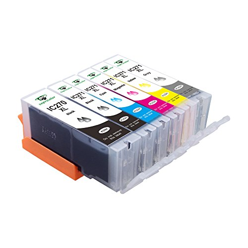 Supricolor PGI-270 CLI-271 High Yield Ink Cartridge, (1 Big BK,1 BK,1 C,1 M, 1Y, 1 Gray) Compatible with PIXMA MG7720 MG6820 MG6821 MG6822 MG5720 MG5721 MG5722 TS5020 TS6020 TS8020 TS9020 Printer by Supricolor