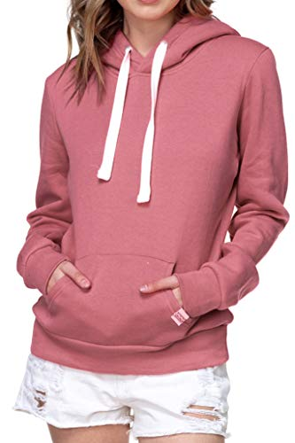 Urban Look Womens Active Long Sleeve Fleece Lined Fashion Hoodie Pullover with Plus Size