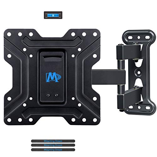 Mounting Dream TV Wall Mount for Most 17″-39'' TVs with Perfect Center Design, Monitor Wall Mount for up to TV/monitor VESA 200 x 200mm and 77lbs. Loading Capacity, Full Motion TV Mount MD2413-S