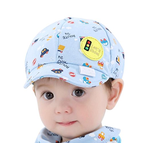 (Voberry Baby Boy Kids Toddler Beret Cabbie Flat Peaked Hat River Cap (C))