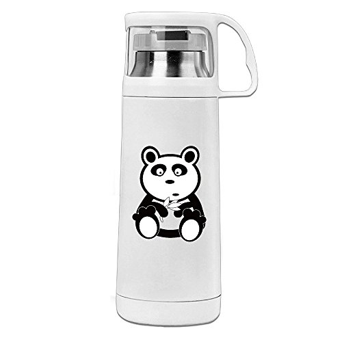 Bamboo Pink Feed (Panda With Bamboo Stainless Steel Insulated With Lid Cup Thermos Cup)
