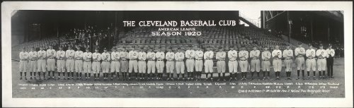 HistoricalFindings Photo: 1920 Panoramic: The Cleveland Indians Baseball Club,American League,Season 1920