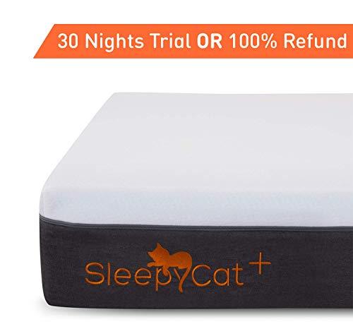 SleepyCat Plus - Orthopedic Gel Memory Foam Mattress (78x72x8 inches)