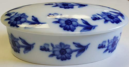 - Limoges New Authentic Signed Porcelain Hand Painted 2-Pieces Box (Made in France)