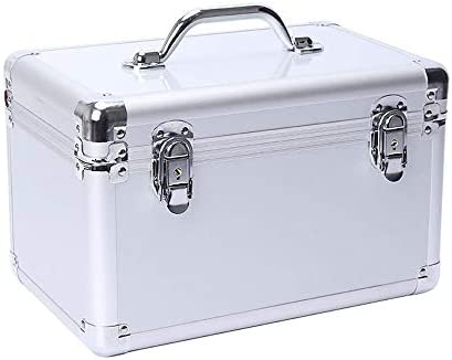 Dong-WW 工具箱 適するのホームアウトドア修理工具収納ボックス、アルミ合金多機能シルバー、サイズ36 * 22 * 25センチ(カラー:シルバー、サイズ:36 * 22 * 25センチ)