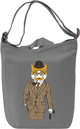 Fancy cat Borsa Giornaliera Canvas Canvas Day Bag| 100% Premium Cotton Canvas| DTG Printing|