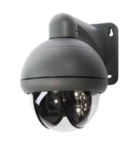 Q-See QD6531Z-K Speed Dome Pan-Tilt Zoom Camera with 3X Optical Zoom and Remote (Grey)