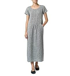 a3b9325efe Vivid Linen Short Sleeve Dress-XS-Apple Red at Amazon Women s Clothing  store