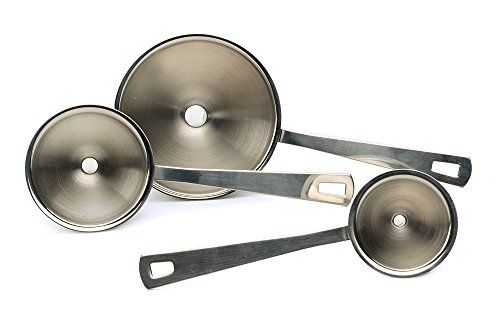 RSVP Endurance 18/8 Stainless Steel Mini Funnel, Set of 3