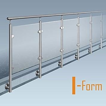 Glas Pfosten Gelander I Form Ohne Ecke Bausatz Diy Seitliche