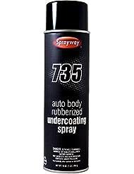 Sprayway SW735 Auto Body Rubberized Undercoating Spray, 16 oz