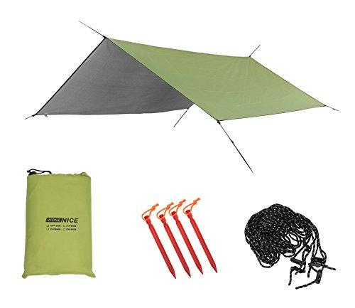 WoneNice Camping Tent Tarps Sunshade Shelter Beach Shelter Waterproof Sunshade Tent Rain Fly Tent Tarp, Camping Tarp, Tarp Shelter