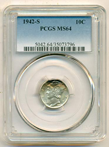 1942 S Mercury Dime MS64 PCGS