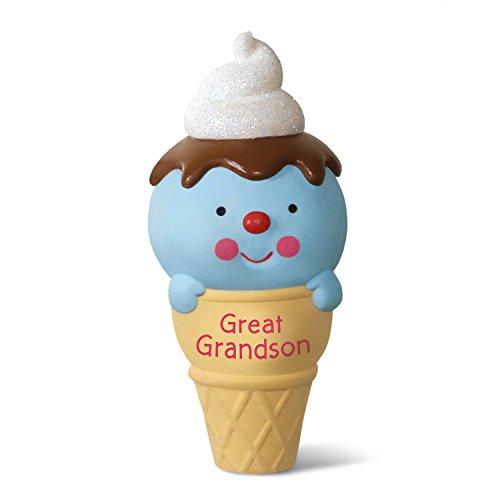 Hallmark Keepsake 2017 Ice Cream Cone Great Grandson Dated Christmas Ornament