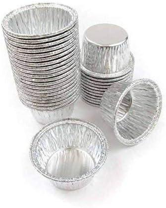 Aluminum Foil Muffin Cupcake cups 100 pieces Ramekin 4 oz Cups Disposable 100 pieces by DCS Deals