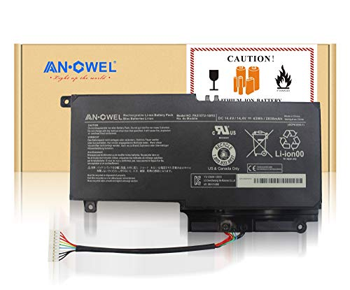 (Angwel 14.4V 43Wh PA5107U-1BRS Replacement Battery for Toshiba L45D L50 L55 P55 L55t P50 Series Laptop P55-a5312 P55T-A5116 S50D-A L50-A S50T-A116 S55-A5275 L55t-A5290 P000573230 -- 1 Year Warranty)