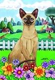 Cheap Siamese Cat Tomoyo Pitcher Spring Garden Flag 28″x40″