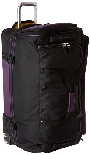 Travelpro Tpro Bold 2.0 30 Inch Drop Bottom Rolling Duffel, Black/Purple, One Size by Travelpro