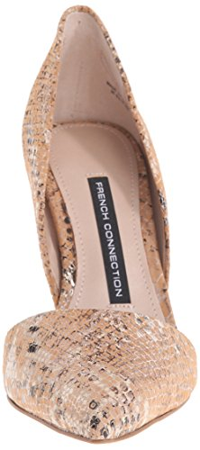 French Connection Women's Elvia Dress Pump, Silver, US US Sand