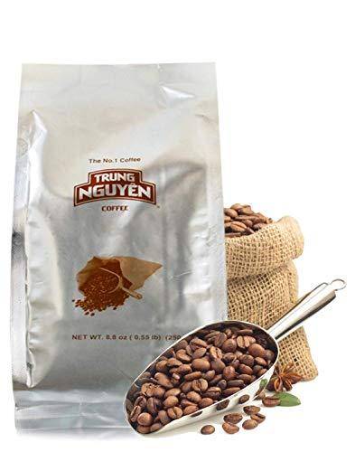 Vietnamese Coffee | Low Acid, NO HEARTBURN - Peaberry Coffee | Smells & Tastes Great | No.1 Culi Robusta Dark Roast, Trung Nguyen