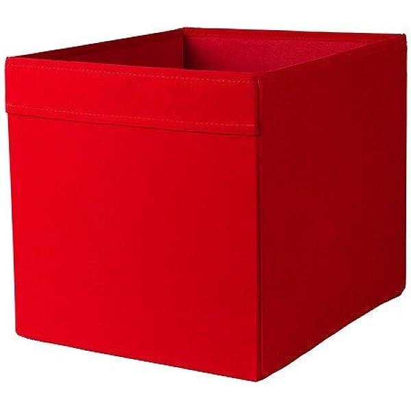 Ikea Inserto Dröna – Caja de almacenaje 33 x 38 x 33 cm (W x D x H) Color Rojo para Expedit, Besta y Otros: Amazon.es: Hogar