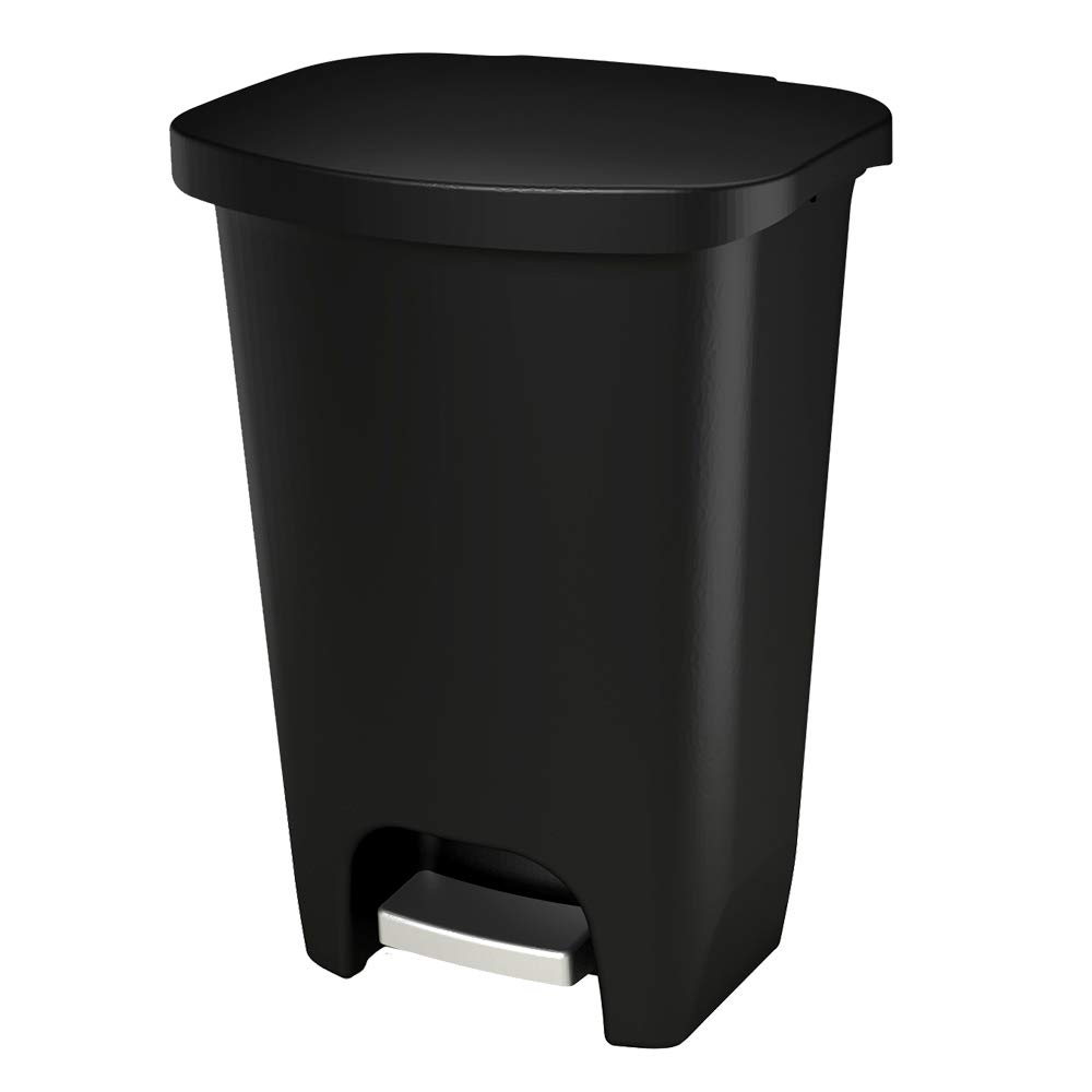 Glad 13 Gallon / 52 Liter Plastic Step Trash Can with CloroxTM Odor Protection