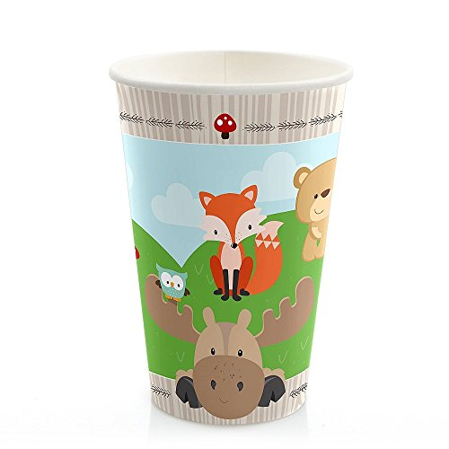 Woodland Creatures – Baby Shower or Birthday Party Hot & Cold Drinking Cups (8 count)