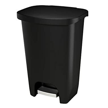 GLAD GLD-74030 Plastic Step Trash Can with Clorox Odor Protection of The Lid | 13 Gallon, 52 Liter, Black
