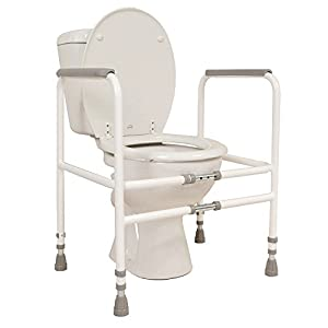 NRS Healthcare M00870 Free Standing Toilet Frame - Width and Height Adjustable (Eligible for VAT Relief in The UK) 20