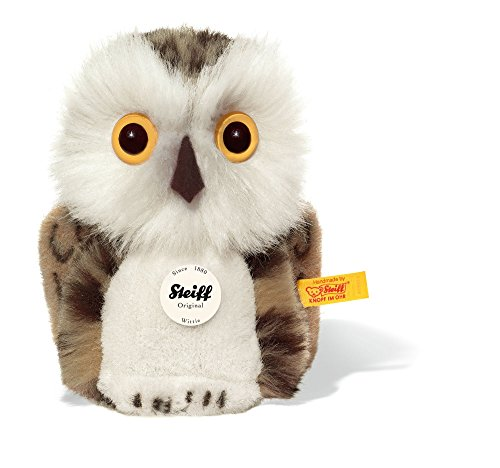 Steiff Wittie Owl Plush, Grey Brindled