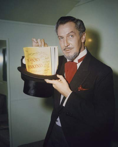 The Story of Mankind Vincent Price holding script