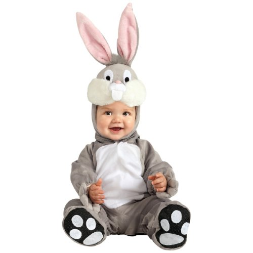 Rubie's Looney Tunes Bugs Bunny Romper Costume, Gray, 12-18 Months