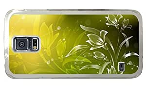 Hipster Samsung Galaxy S5 Cases indestructible flowers spark art PC Transparent for Samsung S5 by icecream design