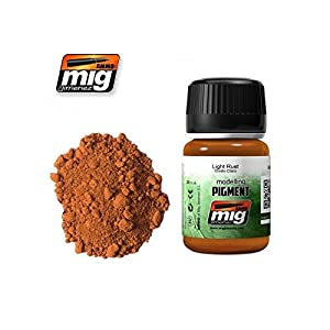 AMMO MIG JIMENEZ LIGHT RUST PIGMENT FOR Rusty vehicles, exhaust pipes 35ml A.MIG 3006 3