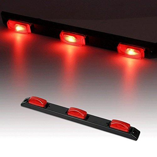 """Catinbow LED Identification Light Bar, 17"""" 3 Light 9 LED Clearance Light Bar Surface Mount Red Side Maker Light Bar Rear Light for Trailer Truck 12V ()"""