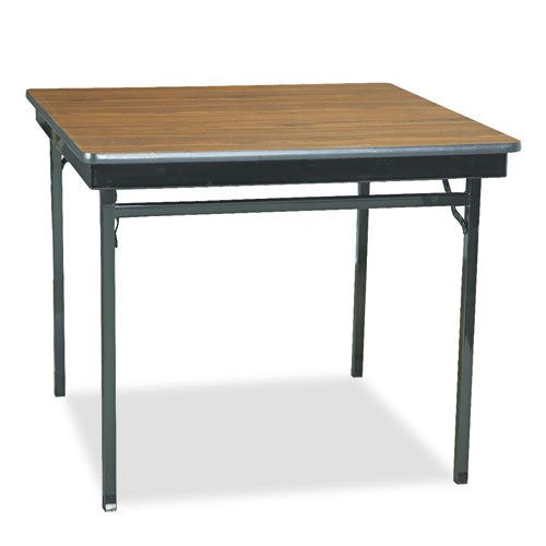 Barricks Square Folding Table - Barricks - Special Size Folding Table, Square, 36w x 36d x 30h, Walnut/Black CL36-WA (DMi EA