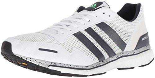 adidas Men's Adizero Adios 3 Running Shoe, Legend Ink/Shock Lime/hi-res Blue, 10.5 M US