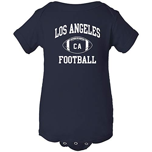 Los Angeles State Football - Los Angeles Classic Football Arch - American Football Team Sports Infant Onesie - 18 Month - Navy w/White Print