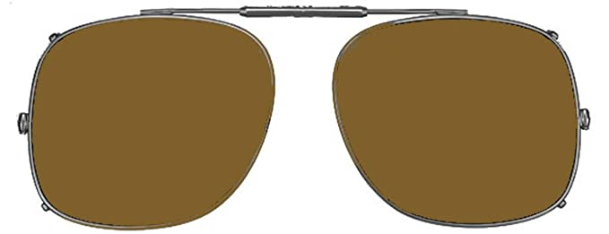 80bd2852917 Image Unavailable. Image not available for. Color  Visionaries Polarized  Clip on Sunglasses - Square - Gun Frame - 57 x 48 Eye