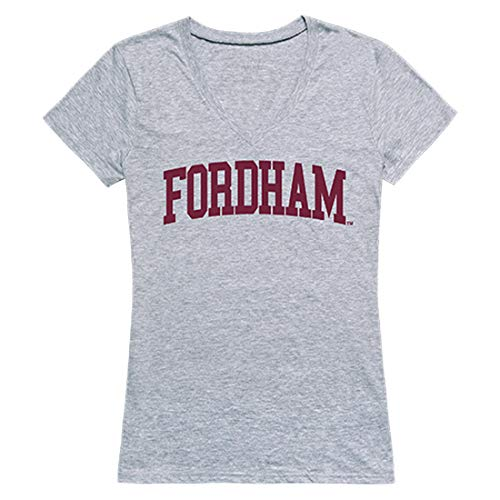 W Republic Fordham Rams NCAA Game Day Tee Womens V Neck Shirt, Small Heather Grey from W Republic