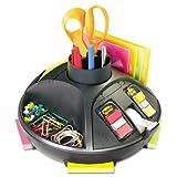 Rotary Self-Stick Notes Dispenser, Plastic, Rotary, 10'' diameter x 6 , Black, Total 6 EA
