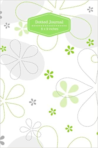 Dot Grid Journal Dotted Floral Notebook