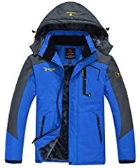 Product Name: Ski Jacket/Rain Jacket Shell & Lining: Polyester & Fleece lining Colors: Green, Black, Blue, Red,Sky blue,Khaki Functions: Waterproof, Windproof, Durable, Breathable, Warm, Quick Drying Washing: 1.Hand wash recommend. Ma...