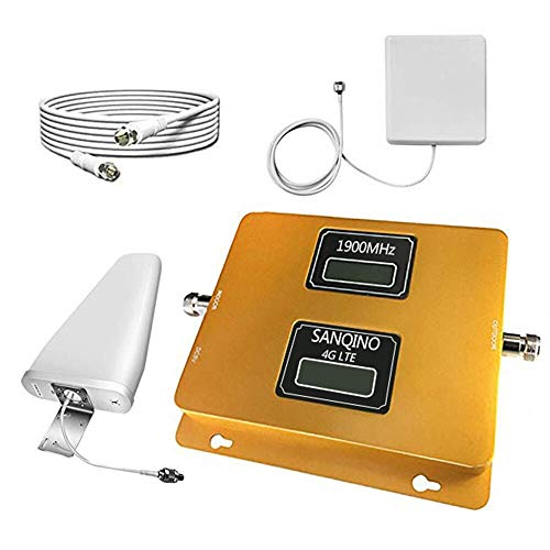Sanqino Cell Phone Signal Booster - AT&T T-Mobile U.S. Cellular 2G 3G 4G- Verzion 2G 3G for Home and Office-Enhance Your Call,Brand 2/12/17 Signal Repeater Amplifier