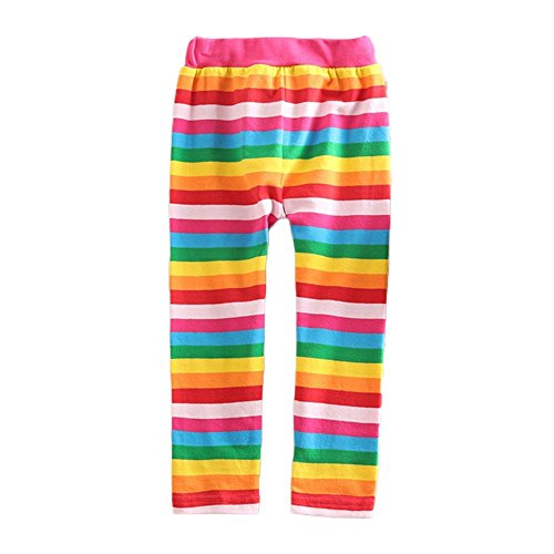VIKITA Girls Stripe Leggings Cotton Flower Long Spring Summer Pants for 7T, F5508