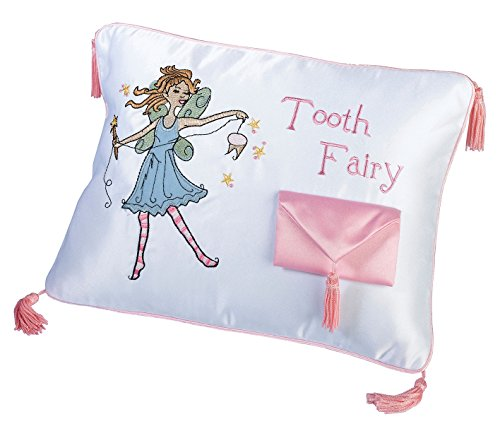 Lillian Rose Tooth Fairy Embroidered Pillow, 11 x 8 ()