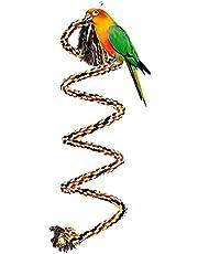 Surfmall Papagei Spielzeug Baumwolle für Wellensittiche Papageienspielzeug Wendeltreppe Vogelspielzeug
